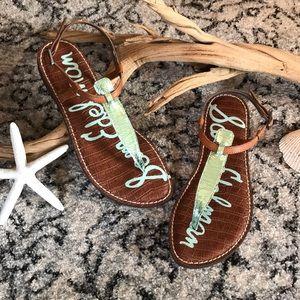 🐚Sam Edelman Sandals 🧜🏼♀️Mermaid Aqua Blue! 7